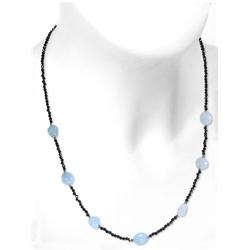Adelia´s Kette ohne Anhänger Aquamarin Halskette 925 Silber