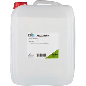 Aqua Dest destilliertes Wasser, 10 Liter Kanister, 0,9 μS/cm für Labor und Kosmetikstudio, Hobby und Camping.