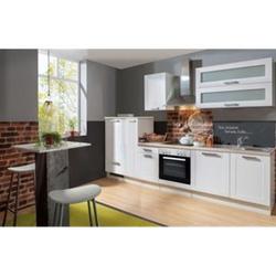 Menke Küchen Küchenzeile Premium White Landhaus 310 cm, inkl. Geschirrspüler