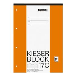 Kieserblock »KIESER 07 0017 C 1042927« A4 Sonderlineatur (Lineatur 21), Brunnen