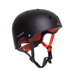 HUDORA 84104 - Skaterhelm, Skateboard-Helm, Scooter-Helm, Fahrrad-Helm, Gr. 56-60, anthrazit