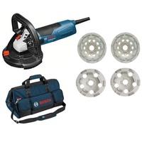 Bosch Betonschleifer GBR 15 CAG Professional inkl. 4 x Topfscheiben + Tasche (06159975H0)