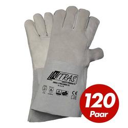 NITRAS Schweisserhandschuhe Vulcanus 20035 5-Finger Schweiß Handschuhe 120 Paar - Größe:9