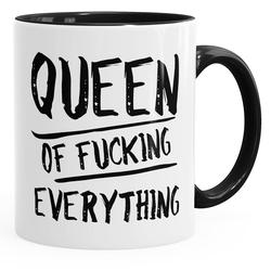 MoonWorks Tasse Kaffee-Tasse Queen of Fucking Everything Tasse für Paare Geschenk zur Hochzeit MoonWorks®
