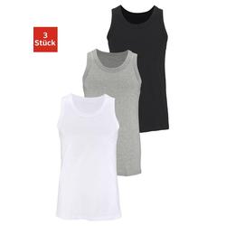 Unterhemd (3 Stück), aus Baumwolle bunt 10/4XL