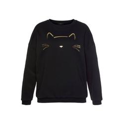 Mavi Sweatshirt mit Katzen Stickerei vorne XS