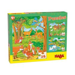 Haba Puzzle Puzzles Tierfamilien, Puzzleteile