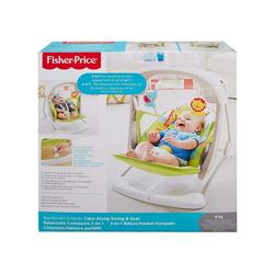 Mattel® Babyschaukel Mattel CCN92 - Fisher-Price - 2 in 1 Babyschaukel mit Bewegung und Sound, Regenwald Design