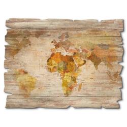 Artland Holzbild Weltkarte, Landkarten (1 Stück)