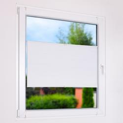 Doppelplissee - Sichtschutz & Sonnenschutz mit Energiesparfunktion - Ohne Bohren - Doppel Plissee weiß