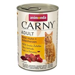 ANIMONDA Carny Adult Rind, Huhn und Entenherzen 400 g