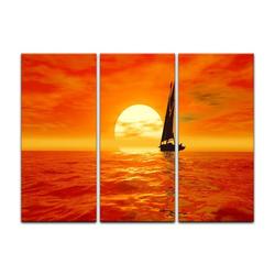 Bilderdepot24 Leinwandbild, Leinwandbild - Segelboot 90 cm x 60 cm