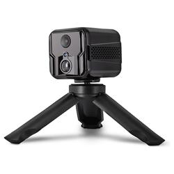 kueatily Mini Kamera mit App innen WLAN IP Kamera Akku live Übertragung Handy Bewegungssensor Nachtsicht Audio tragbar unauf Sicherheitsfälligkamera Babykamera Versteckt Überwachungskamera Webcam