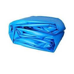 GRÉ - Liner uni bleu pour piscine 7,30 x 3,75 m x 1,20 m - 40/100e - Pour overlap (non fourni) de