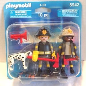 Playmobil Duo_Pack 5942 Amerikanische Feuerwehr mit Dalmatiner