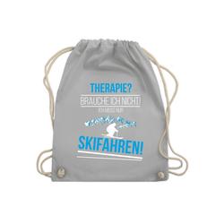 Shirtracer Turnbeutel Therapie? Brauch ich nicht! Skifahren! - Wintersport - Turnbeutel - Jutebeutel & Taschen, turnbeutel wintersport