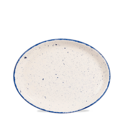 12 x Platte oval 25,4cm STONECAST HINTS indigo