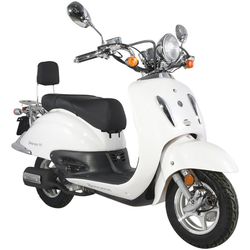 Alpha Motors Motorroller Retro Firenze, 50 ccm, 45 km/h, Euro 4, 50 ccm, 45 km/h, weiß