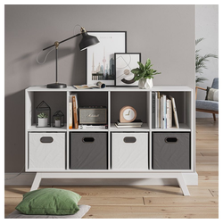 Vicco Raumteiler Scutum 8 Fächer Standregal Bücherregal Sideboard Kommode