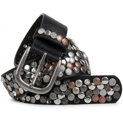 styleBREAKER Nietengürtel Gürtel mit Nieten und Strass Gürtel mit Nieten und Strass schwarz 80cm