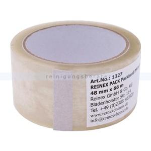 Klebeband Reinex Packband PP transparent 48 mm x 66 m vielseitig einsetzbares Paketklebeband