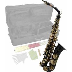 Steinbach Saxophon Steinbach Eb Alt-Saxophon in Schwarz mit hohem FIS
