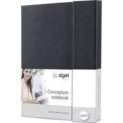 Sigel CONCEPTUM® CO161 Notizbuch kariert Schwarz Anzahl der Blätter: 97 DIN A5