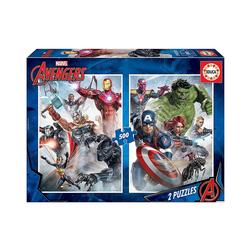 Educa Puzzle Marvel Mania Puzzle, 2x500 Teile, Puzzleteile