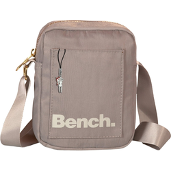 Bench. Umhängetasche OTI304K Bench stylische Mini Bag Twill Nylon (Umhängetasche), Damen, Jugend Umhängetasche Nylon, grau ca. 14cm breit