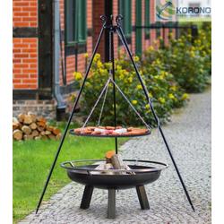 Grillset 6: Schwenkgrill - 1,80m incl. Grillrost und Feuerschale (Größe Grillrost & Feuerschale: Ø 80cm Grillrost / 100cm Feuerschale)