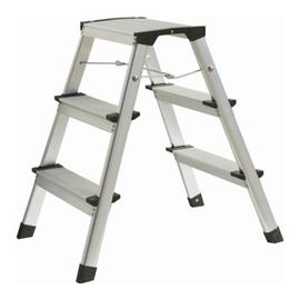 atrox aluminium trittleiter 2 x 3 stufen ab. Black Bedroom Furniture Sets. Home Design Ideas