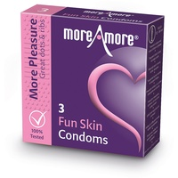 MoreAmore - Condom Fun Skin (3 pcs)