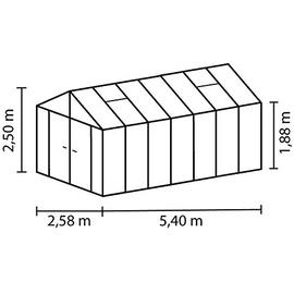 Vitavia Zeus Comfort 13800 Alu ESG 3 mm / Dach HKP 10 mm 13,8 m²