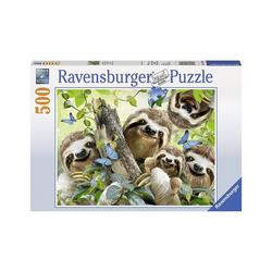 Ravensburger Puzzle Puzzle 500 Teile, 49x36 cm, Faultier Selfie, Puzzleteile