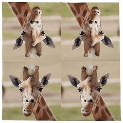 Linoows Papierserviette 20 Servietten Giraffe Afrikanische Tiere die Giraf, Motiv Giraffe Afrikanische Tiere die Giraffe