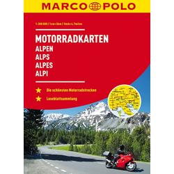 MARCO POLO Motorrad-Karten Alpen 1:300 000 als Buch von