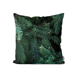 Kissenbezug, VOID (1 Stück), Wald Winter Tannenbaum Kissenbezug Tannenzweig Tanne Tannenbaum Pflanzen Baum 40 cm x 40 cm