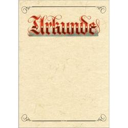 Urkundenvordruck Elefantenhautpapier A4 190g m. rotem Druck - Urkunde - weiß