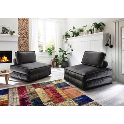 ATLANTIC home collection XXL-Sessel, XXL-Sessel wandelbar zum Gästebett grau