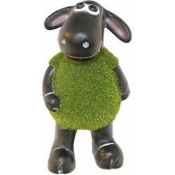 Casa Collection by Jänig Tierfigur Schaf grün (mit Rasenfell) auf 2 Beinen stehend, Höhe: 18cm (1 Stück)