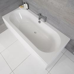 Standard Badewanne 1800mm x 800mm Oval - ohne Paneel, von Hudson Reed