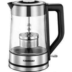MELISSA Wasserkocher 16130302 Glas-Wasserkocher mit Tee-Filter, 2200 W