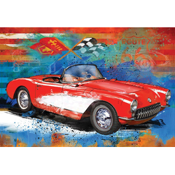 EUROGRAPHICS Puzzle EuroGraphics 8551-5599 Corvette Cruising Tin 550 Teile Puzzle, Puzzleteile bunt