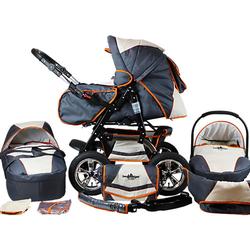 Kombi Kinderwagen Milano, 10 tlg., beige & grey beige/orange