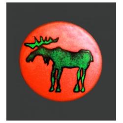 Unterwegs Unterwegs Button rot-grün - Gr��e 25mm