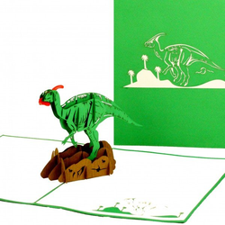 Colognecards Pop-Up Karte Dinosaurier