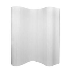 vidaXL Raumteiler vidaXL Raumteiler Bambus Weiß 250×165 cm