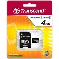 Transcend microSDHC 4GB Class 4 + SD-Adapter