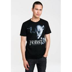 LOGOSHIRT T-Shirt mit coolem Print The Hobbit - Gollum schwarz L