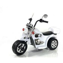 Kinder Elektro Polizei Motorrad Fahrzeug Kindermotorrad Akku Harley Motorrad Elektromotorrad... weiß